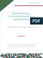 Elementos de La Planeacion Didactica
