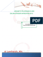 10. Manajemen Mutu Pelayanan Klinis