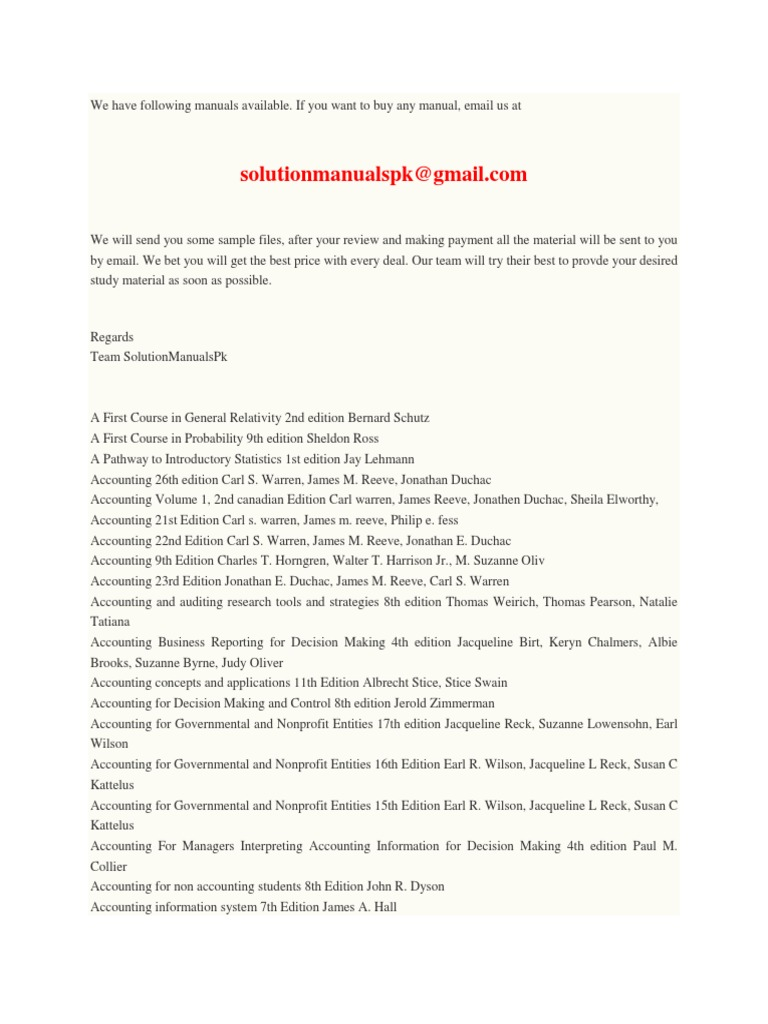 Free solution manuals entrepreneurship accounting fandeluxe Image collections