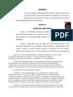 Code of Ethics of Professional Teachers