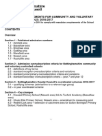 Determined Admission Report 2016 2017