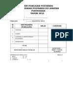 Form Lomba Taman Posyandu Tahun 2016