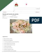 Receita de Ceviche de Salmão - Comida e Receitas