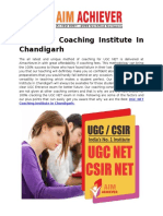 UGC NET Coaching Institute In Chandigarh