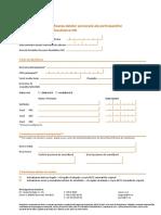 Formularul Pentru Modificarea Datelor Personale Ale Participantului