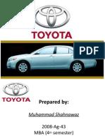 Presentation on toyota by MIAN >M .Shahnawaz
