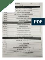 Event Schedule RICC