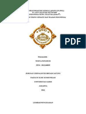 Laporan Praktek Kerja Lapangan Inewstv Docx