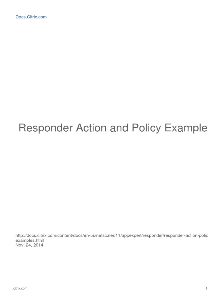 Responder Action Policy Examples new Generateall | Hypertext