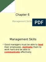 chapter 6 - management skills 1