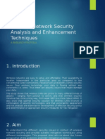 Wireless Network Security Analysis and Enhancement Techniques