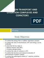 ETC, Oxidation Complexes and Cofactors