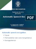 4. 1 Pengenal Ucapan Otomatis