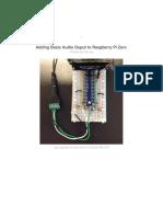 Adding Basic Audio Ouput to Raspberry Pi Zero