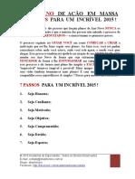 2015 PDF Meu Plano de Acao Em Massa 7 Passos Para Um Ano Incrivel