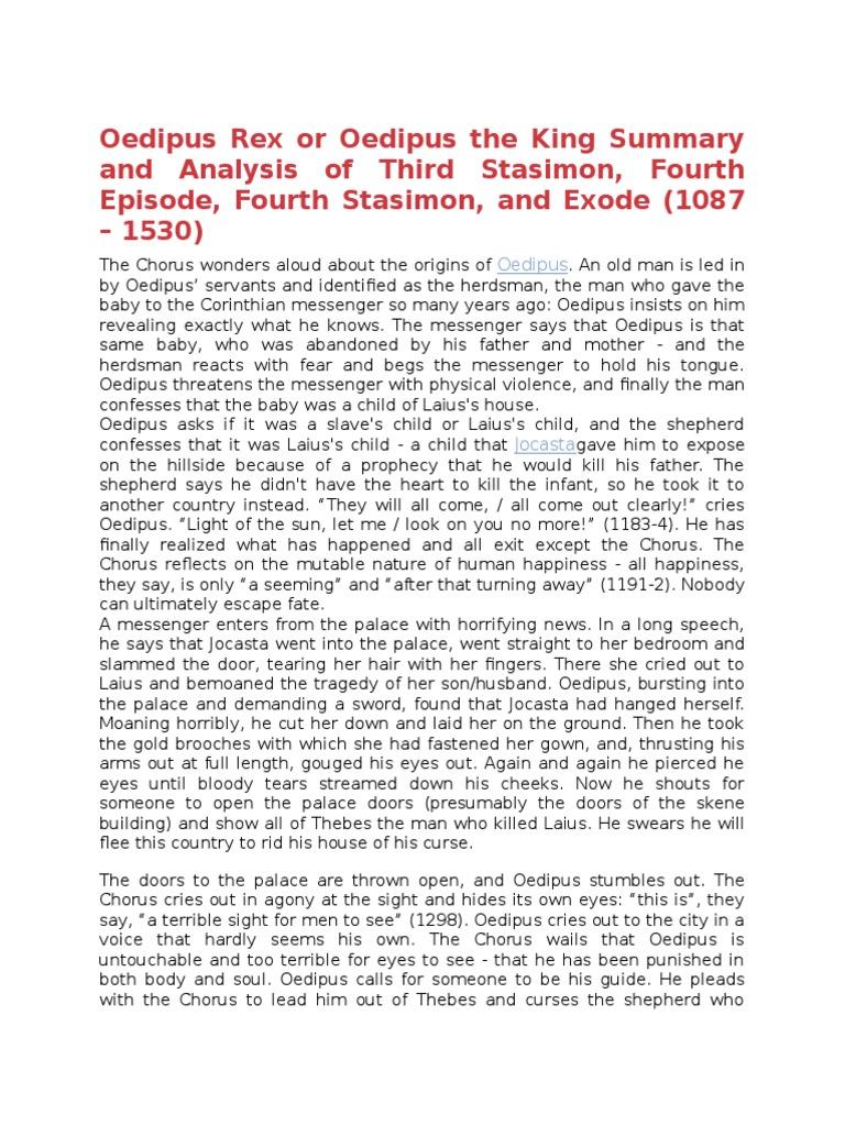 oedipus brief summary