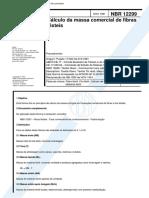 NBR 12299 NB 1383 - Calculo Da Massa Comercial de Fibras Texteis