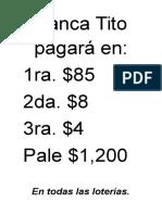 Banca Tito Pagará En