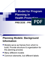 Models for Program Planning In