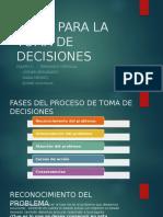 Fases Para La Toma de Decisiones