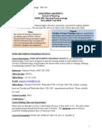 NURS250 Pharm Syllabus - Fall 2015(1)