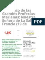 Comienzo de Las Grandes Profecías Marianas_ Nuestra Señora de La Salette, Francia (19 de Septiembre) » Foros de La Virgen María