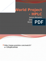 Real World Project - HPLC[1][1]