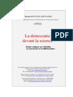 Bouglé Célestin-La Démocratie Devant La Science_Études Critiques Sur l'Hérédité La Concurrence Et La Différenciation-Alcan 1904