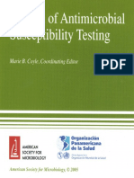 NCCLS Manual of Antimicrobial Susceptibility Testing