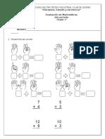 Evaluación 2do Per-matematicas Cmcl