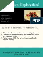 a pasta exploration pdf