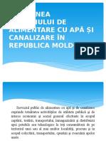 GESTIUNEA SERVICIULUI DE ALIMENTARE CU APĂ ȘI CANALIZARE ÎN REPUBLICA MOLDOVA