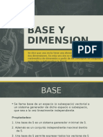 Algebra Lineal - Base y Dimension