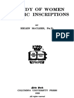 A Study of Women in Attic Inscriptions