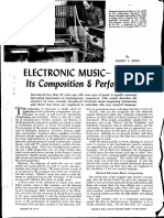 Moog – Electronic Music Composition and Performance