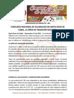Comunicado Fundación Concurso Nacional de Villancicos