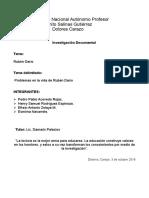 Monografia Ruben Dario problemas de su visa