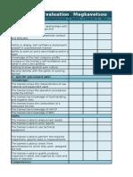 evaluation worksheets 6 months euromind