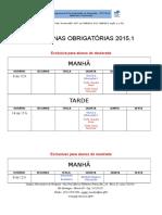 2015-01 Disciplinas Obrigatórias.