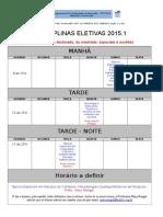 2015-01 Disciplinas Eletivas 1
