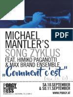 Michael Mantler – Himiko PAGANOTTI – MAX BRAND Ensemble – ECM Records