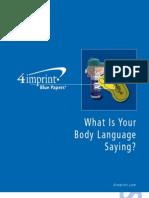 Body Language Blue Paper