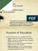 lbs philosphy of teach 2013