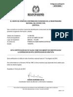 Certificado Estado Cedula 14399509F
