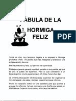Fabula de La Hormiga Productiva y Feliz (1)