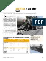 Orçamento Real - Espuma Asfáltica x Asfalto Convencional