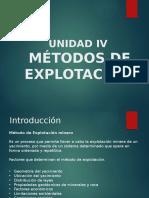 Clase 1 Unidad IV Métodos de Explotación