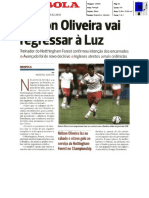Nélson Oliveira regressa ao Benfica