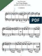 Stravinsky - Les Cinq Doigts (Piano)