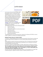 Budwig Diet Protocol for Cancer